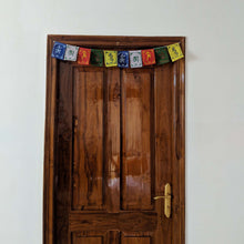 Load image into Gallery viewer, Prayer Flag Om Mani Padme Hum Cotton on home door