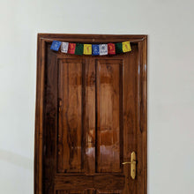 Load image into Gallery viewer, Prayer Flag Om Mani Padme Hum Cotton Mini on home door