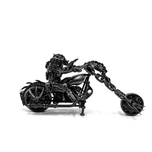 Predator on Bike Metal Art Figurine