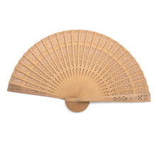 Load image into Gallery viewer, Wooden Scented Folding Fan