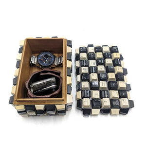 Wooden Box Keyboard Keys watch and jewelry