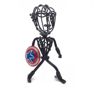 hand-crafted Wire-art Captain america