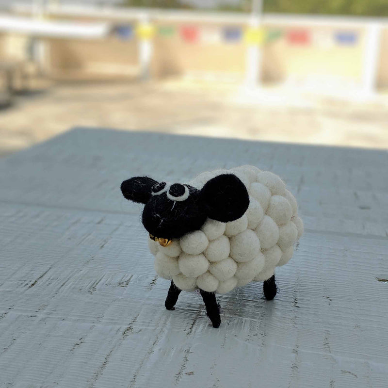 Sheep hand-crafted from felt