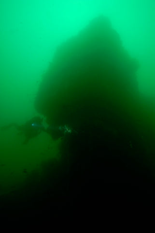 Capt Pat Rooney on the RMS Oregon's Engine