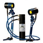 StoneRust.com - Underwater Light Dude - Underwater Light Dude Dual LD-100V Head 10,000 Lumen Video Light - 1