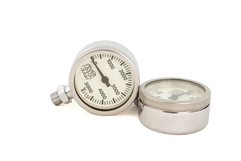 Light Monkey White Pressure Gauge