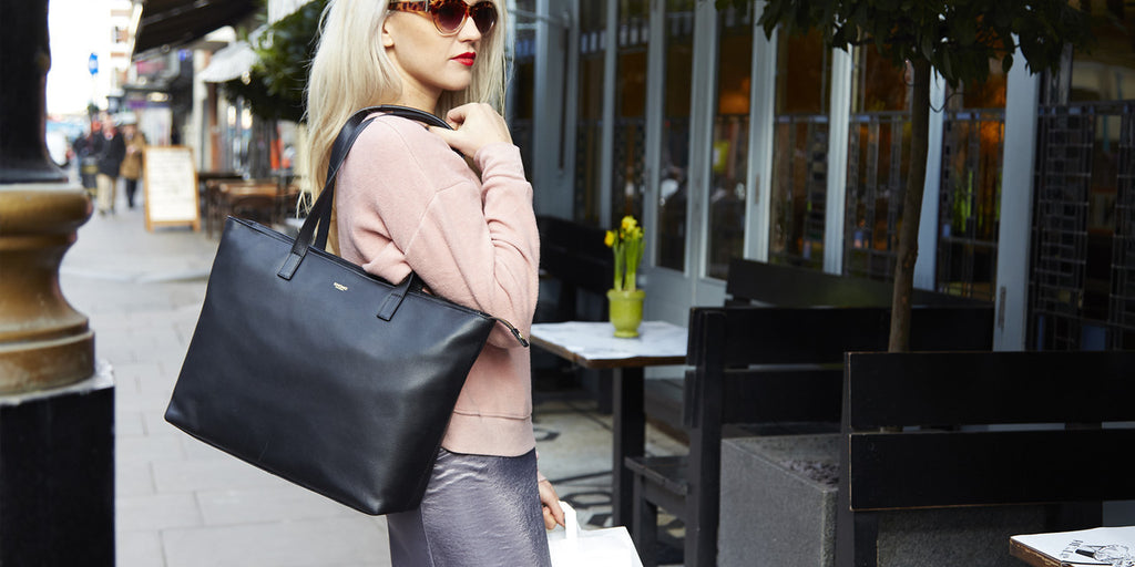 Our Best Selling Maddox Laptop Tote in Black Now Back in Stock