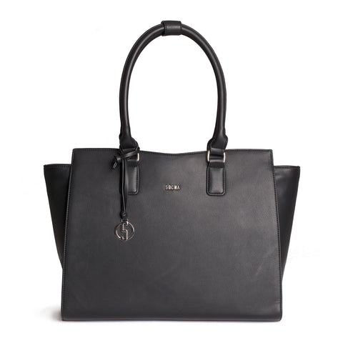 Caddy Black Womens Laptop Tote Bag- Laptopbags.co.uk