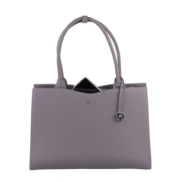 Straight Line Warm Grey 15.6″ Women's Laptop Tote - Laptopbags.co.uk