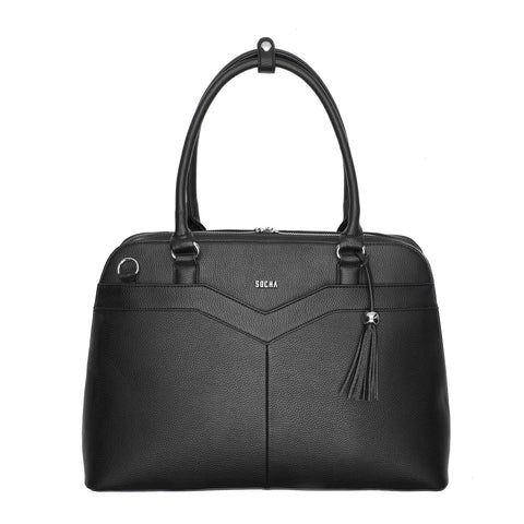 "Couture V Black 15.6 "" Womens Laptop Tote - Laptopbags.co.uk"