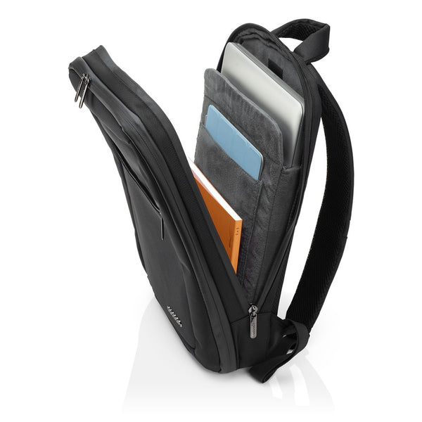 "Cocoon SLIM Water Resistant Backpack 15.6"" Laptop + 10"" Tablet Backpack- Black - Laptopbags.co.uk"