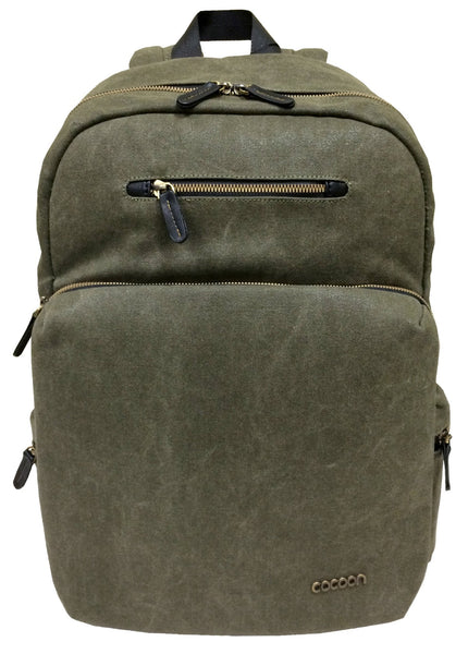 "Cocoon Urban Adventure 16"" Laptop Backpack- Military Green - Laptopbags.co.uk"