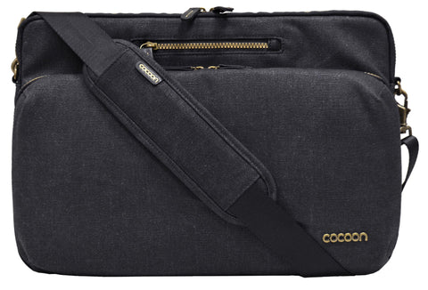 "Cocoon Urban Adventure 16"" Messenger For 15"" MacBook Pro/16"" Laptops- Black - Laptopbags.co.uk"