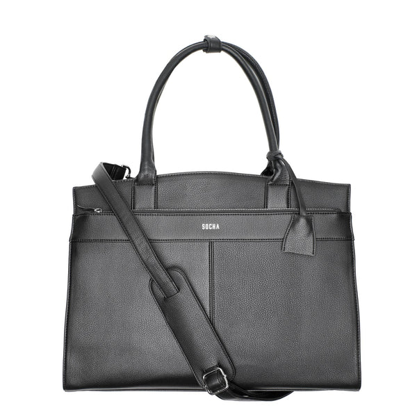 "Iconic Black 15.6"" Women's Laptop Tote Bag - Laptopbags.co.uk"