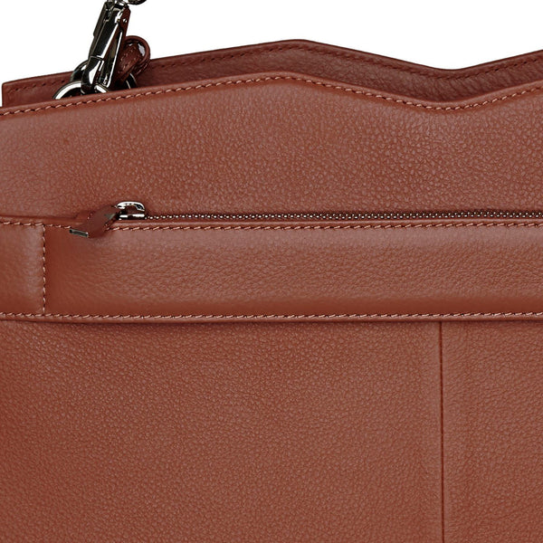 "Diamond Edition Cognac Leather Womens 14"" Laptop Tote - Laptopbags.co.uk"
