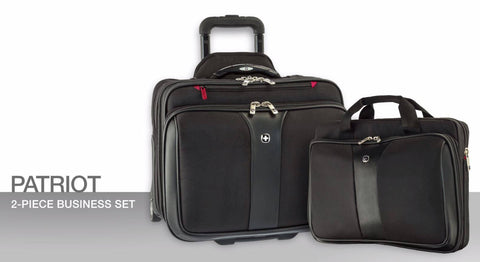 "Wenger Patriot 17"" Two Piece Wheeled Laptop Travel Set - Laptopbags.co.uk"