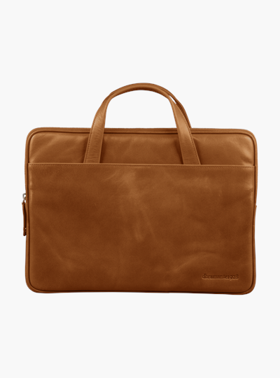 "Leather Laptopcase Silkeborg for PC & MacBooks up to 15""- Tan - Laptopbags.co.uk"