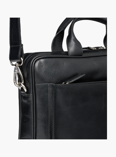 Amalienborg 15 Inch Leather Laptop Briefcase - Black - Laptopbags.co.uk