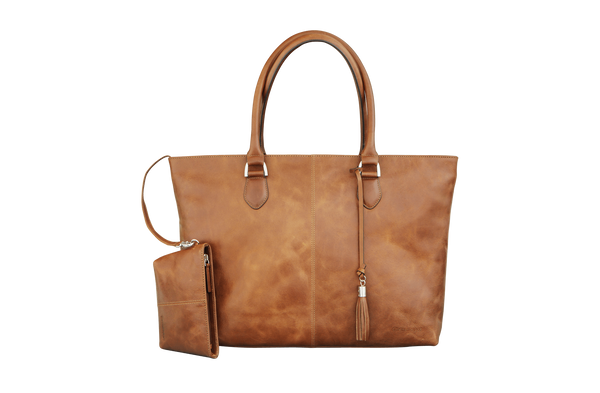"Sophie Tan Leather Womens 15"" Laptop Tote - Laptopbags.co.uk"