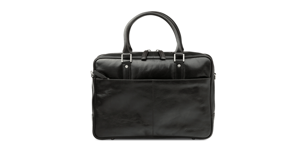 "Rosenborg 14"" Dark Brown Leather Laptop Briefcase - Laptopbags.co.uk"