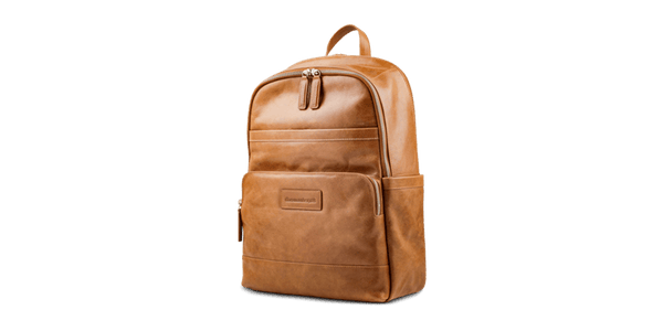 "Svendborg -16"" Leather Laptop Backpack - Laptopbags.co.uk"