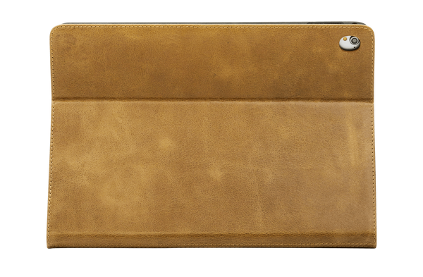 "Copenhagen 2 -Leather  9.7"" iPad Pro Folio Case- Tan - Laptopbags.co.uk"