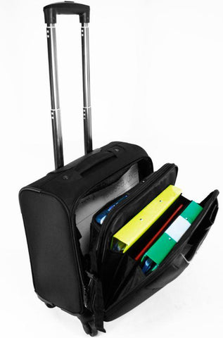 "4 Wheeled Mobile 15-16"" Laptop/Tablet Business Trolley Case - Laptopbags.co.uk"