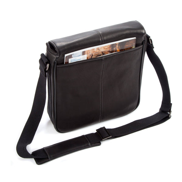 "Colombian Leather 10.5"" Tablet - iPad Bag - Black - Laptopbags.co.uk"