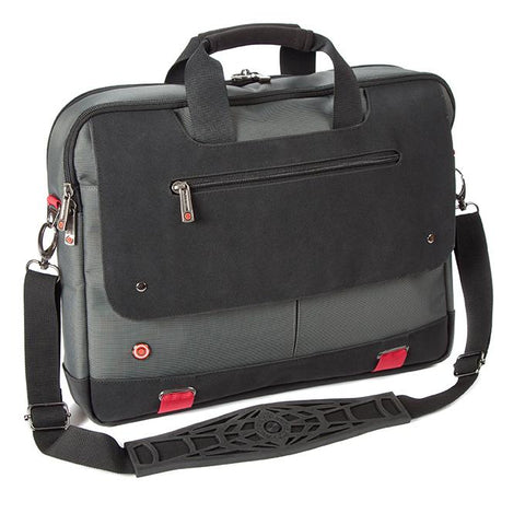 "i-stay Urbana Twin-handle 15.6"" Laptop/Tablet Bag - Titanium/Black - Laptopbags.co.uk"