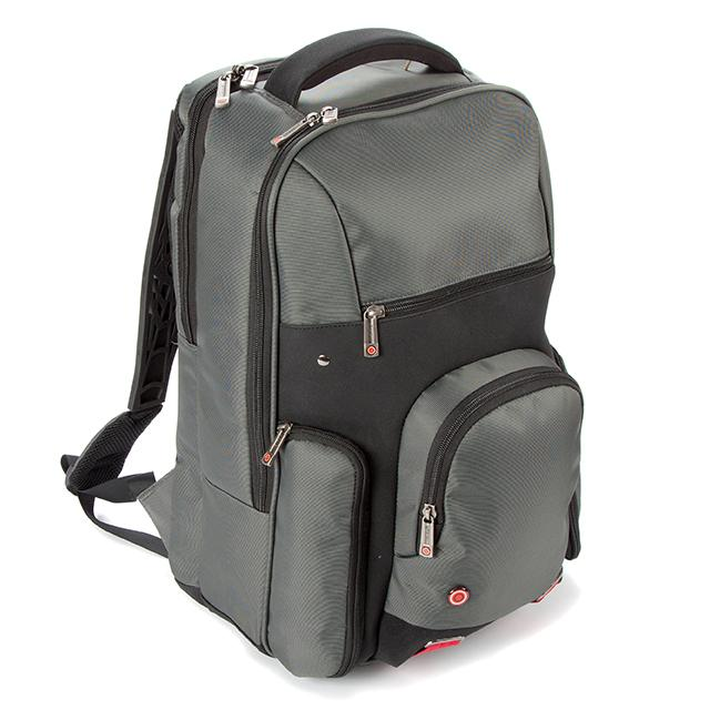 "i-stay Urbana 15.6"" Laptop/Tablet Backpack - Titanium/Black - Laptopbags.co.uk"