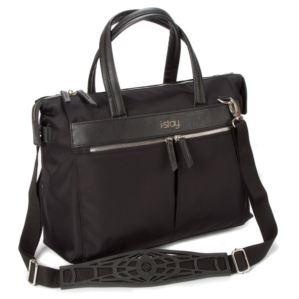 "i-stay Onyx 15.6"" Ladies Laptop Bag - Black - Laptopbags.co.uk"