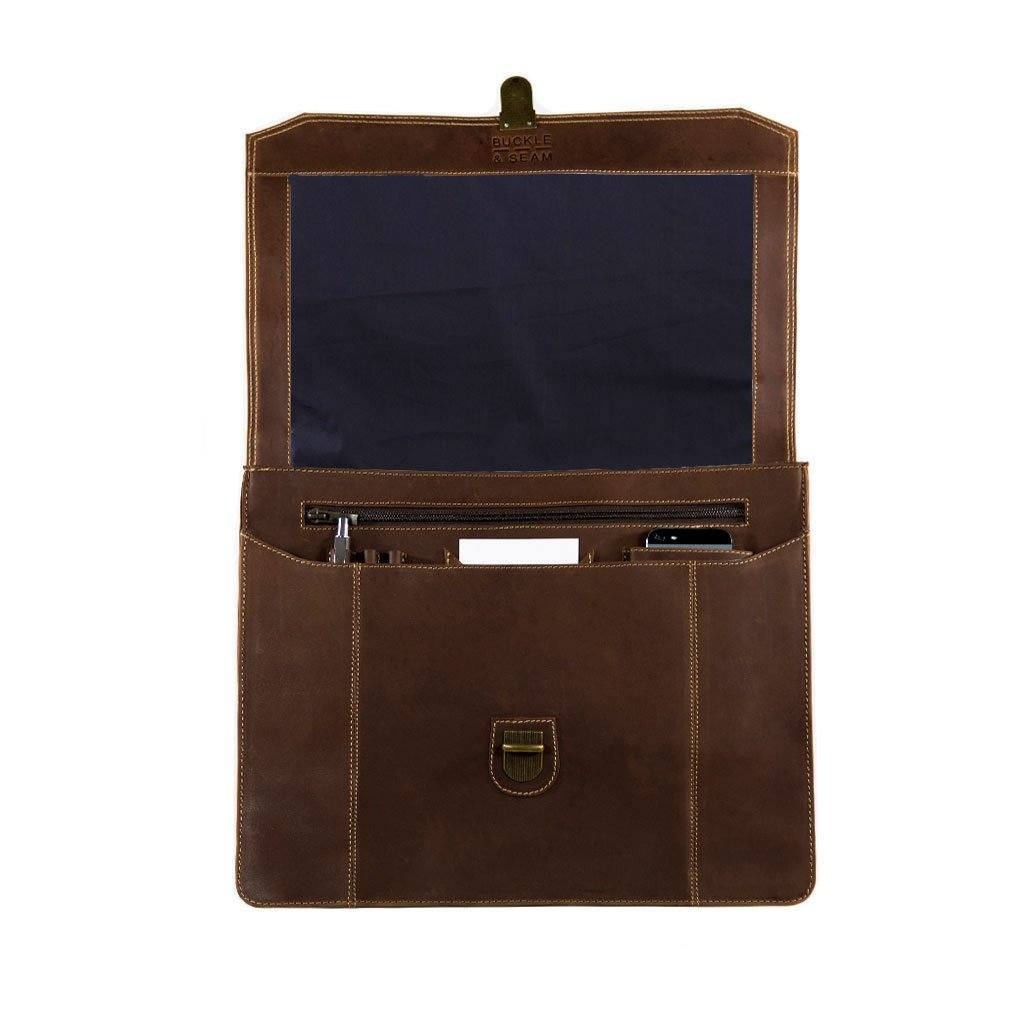 "15"" Leather Laptop Messenger Bag – SIERRA with choice of Interior lining - Laptopbags.co.uk"