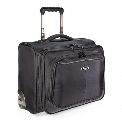 "Wheeled 15.6"" Laptop Business Trolley Case - Black - Laptopbags.co.uk"