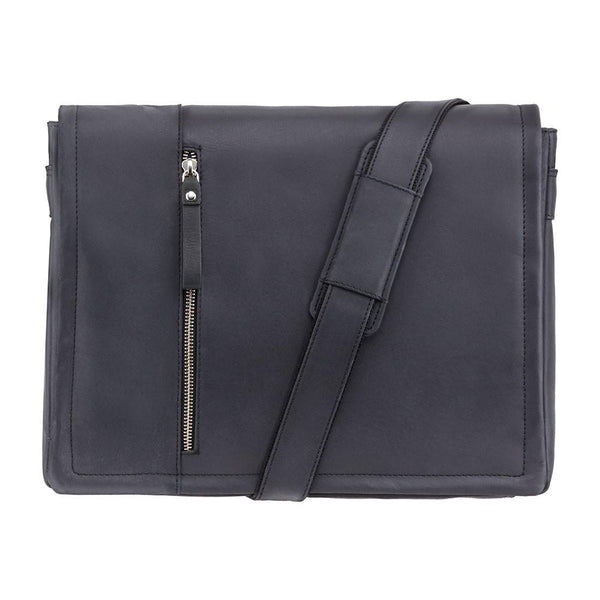 "Visconti Foster 13.3"" Leather Laptop Messenger Bag - Laptopbags.co.uk"