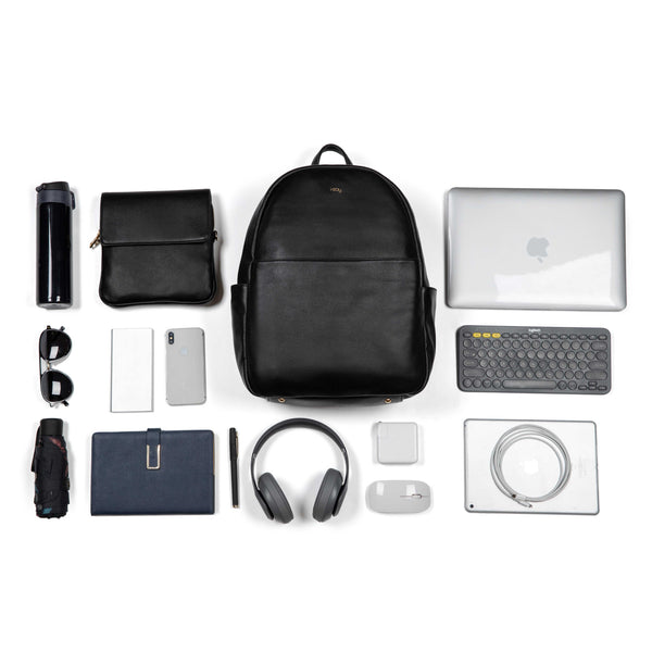 "i-stay 13.3"" Womens Laptop - Tablet Backpack with Clutch Bag - Black - Laptopbags.co.uk"
