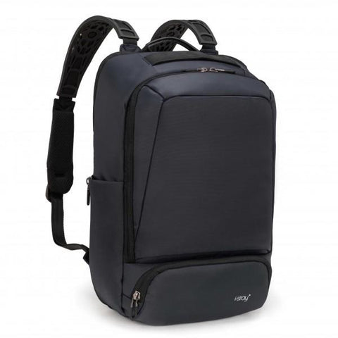 "i-stay 15.6"" Anti-theft Laptop - Tablet Overnight Backpack - Navy - Laptopbags.co.uk"