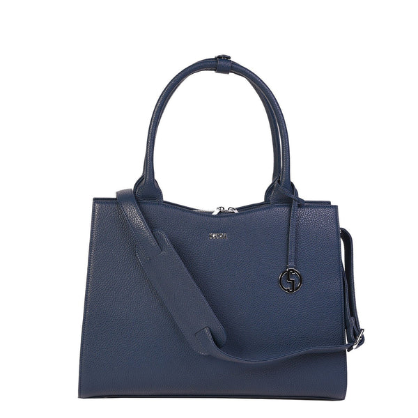 Navy Blue Midi 13.3″ Womens Laptop Tote - Laptopbags.co.uk
