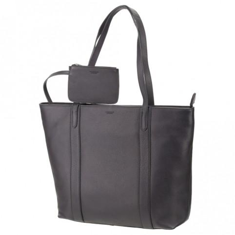"Sophia - 13"" Womens Leather Laptop Tote Bag- Black - Laptopbags.co.uk"