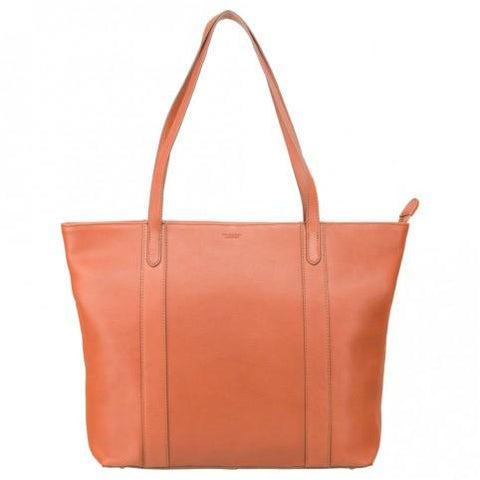 "Sophia - 13"" Womens Leather Laptop Tote Bag- Tan - Laptopbags.co.uk"