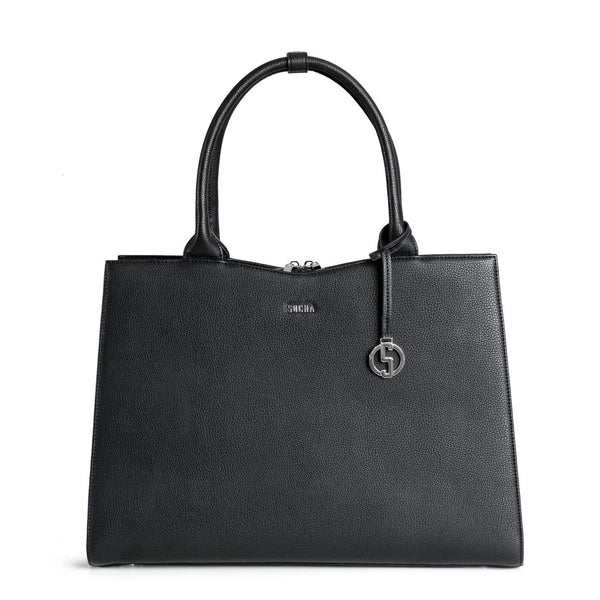 Straight Line Black 15.6″ Women's Laptop Tote - Laptopbags.co.uk