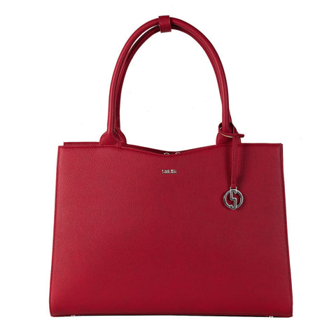 Straight Line Red 15.6″ Women's Laptop Tote