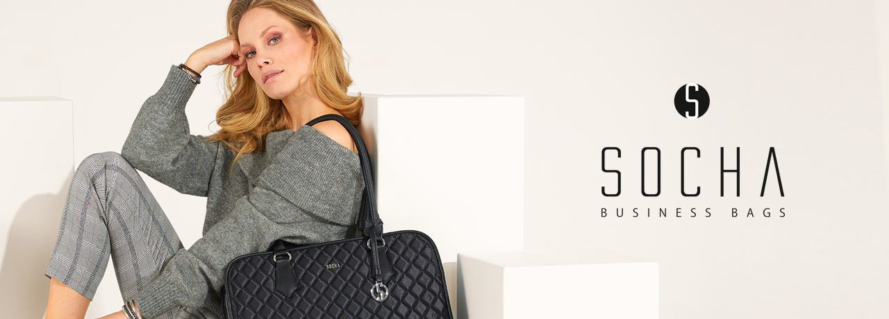 "Socha 15.6"" Diamond Edition Quilted Laptop Tote- Laptopbags.co.uk"