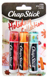 Chapstick Holiday Collection 2017, Pack of 3, Holiday Cinnamon, Caramel Creme & Holiday Cocoa, 0.15 Oz Ea - Glumech