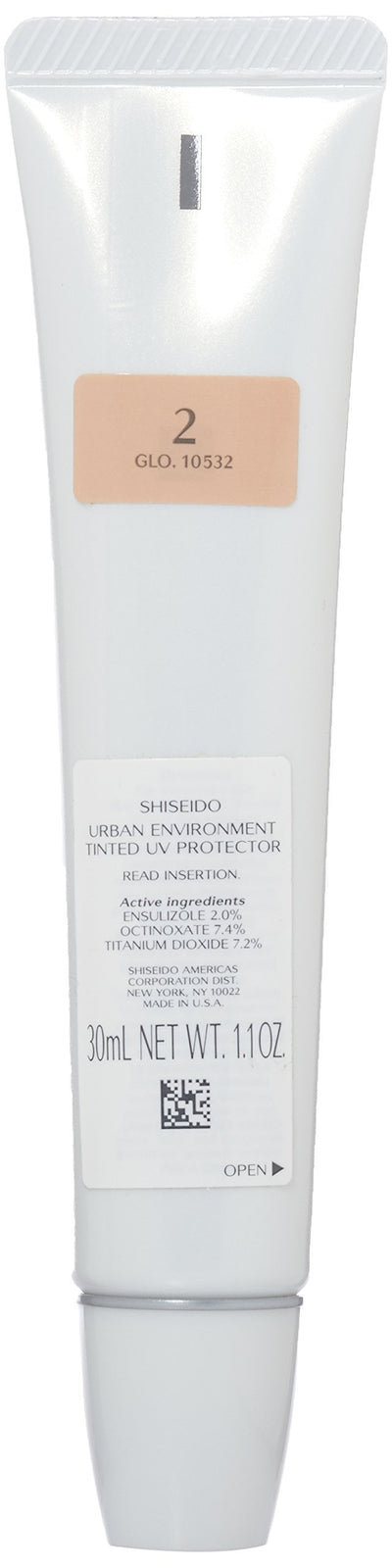 Shiseido Urban Environment Tinted UV SPF 43 Protector Broad Spectrum for Face, No. 2, 1.10 Ounce - Glumech