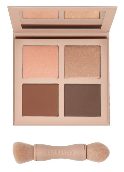 KKW POWDER CONTOUR & HIGHLIGHT KIT DARK - Glumech
