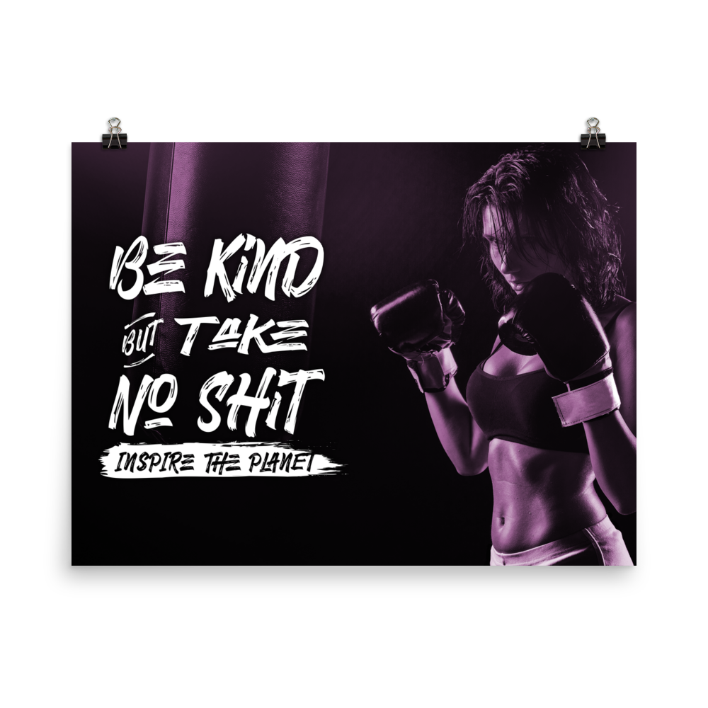Be Kind But Take No Shit Poster
