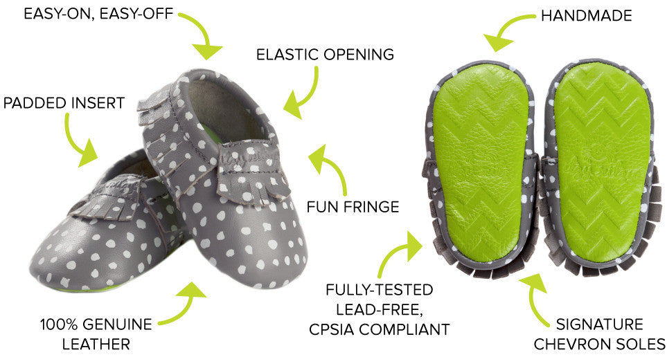 Itzy Ritzy Moccasins Features