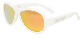 Babiators Aviator Polarized | Wicked White Stylin' Orange Lenses
