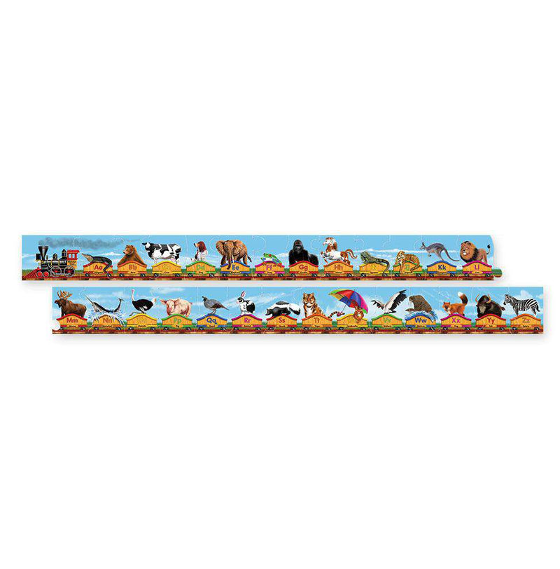 Melissa & Doug | 28 Piece Floor Puzzle | Alphabet Train