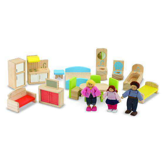 Melissa & Doug | Hi-Rise Dollhouse & Furniture Set